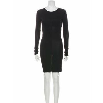 Crew Neck Mini Dress Black