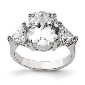 Versil Sterling Silver CZ Ring
