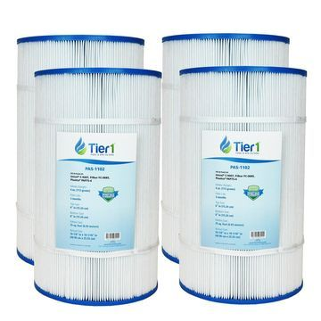 Tier1 Pentair Pool filter R173214, Pleatco PAP75-4, Filbur FC-0685, Unicel C-9407 Comparable Replacement Pool Filter Cartridge (4-Pack)