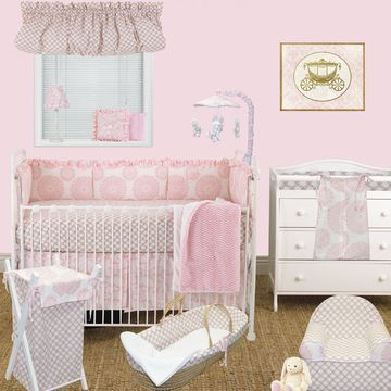 Cotton Tale Sweet and Simple Pink 8-piece Crib Bedding Set