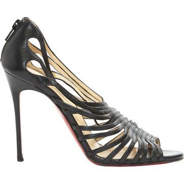 Christian Louboutin Black Leather Sandals
