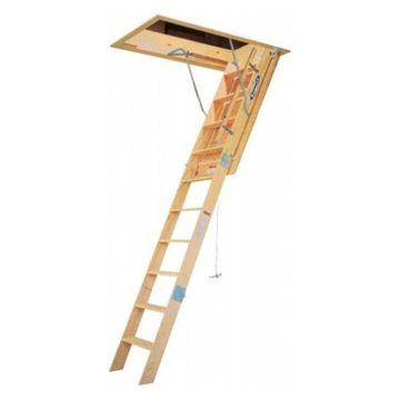 Werner 8' Wood Folding Heavy Duty Access Ladder