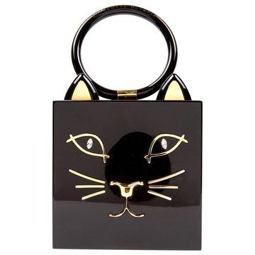 Charlotte Olympia Black Plastic Handbags