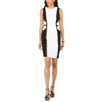 Taylor Sleeveless Colorblocked Sheath Dress