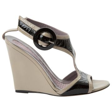 Anya Hindmarch Grey Patent leather Sandals