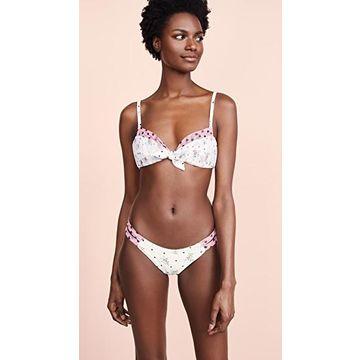 For Love & Lemons Naomi Schrunchy Bikini Top