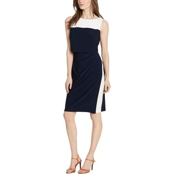 American Living Womens Wear to Work Dress Colorblock Sleeveless
