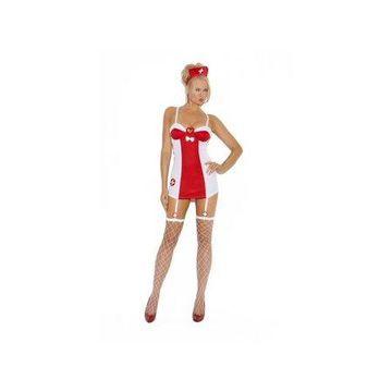 White/Red Flirty Nurse Costume Elegant Moments 9084 White/Red Small, Small
