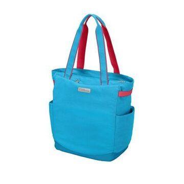 Wilson Racket Tote Bag, Aqua/Coral