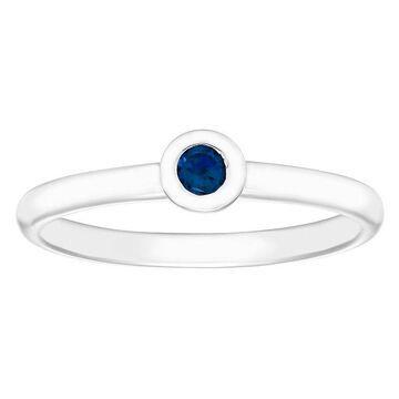 Boston Bay Diamonds Sterling Silver Bezel Set Blue Sapphire Stack Ring, Women's, Size: 7