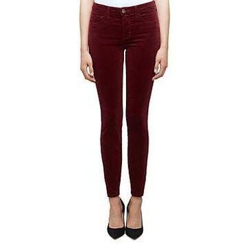 L'Agence Marguerite Skinny Jeans in Merlot