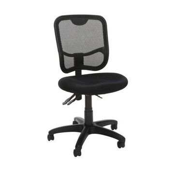 OFM Comfort Series Ergonomic Mesh Mid Back Armless Task Chair, in Black (130-A05)