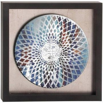 Decmode Polystone Framed Mirror Art, Multi Color