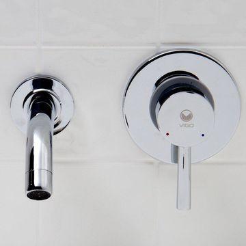 VIGO Olus Chrome Wall Mount Bathroom Faucet