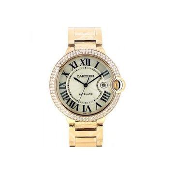 Cartier Men's WE9008Z3 'Ballon Bleu' Rose Gold-tone Stainless Steel Watch