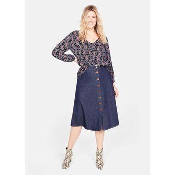 Violeta BY MANGO - Paisley print blouse dark navy - 12 - Plus sizes