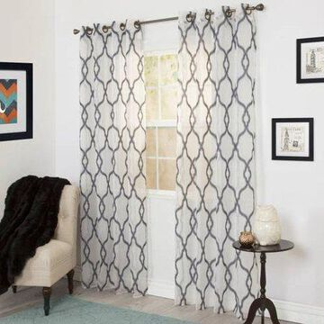 Somerset Home Elisa Emboidered Curtain Panel