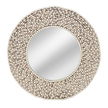 IMAX 15702 Siena Wood Bead Mirror