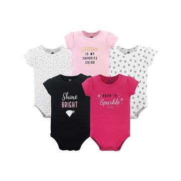 Hudson Baby Girls' Infant Bodysuits Sparkle - Sparkle Bodysuit Set - Infant