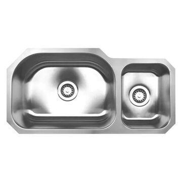 Whitehaus WHNDBU3317 Stainless Steel 33