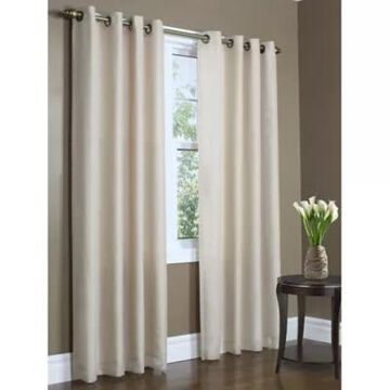 Commonwealth Home Fashions Rhapsody 95-Inch Double Grommet Curtain Panel In Mushroom (Single)