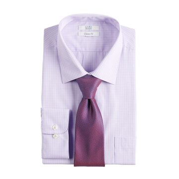 Men's Croft & Barrow Classic-Fit Stretch-Collar Dress Shirt and Patterned Tie Boxed Set