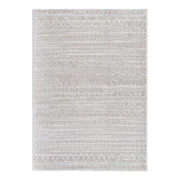 Rugs America Lennox Rug, White, 5X7 Ft