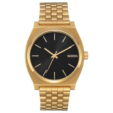 Nixon Time Teller A045-2042 Black/Gold Stainless Steel Analog Quartz Unisex Watch