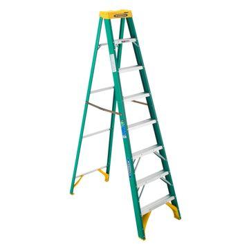 Werner 8 ft. H x 25 in. W Fiberglass Step Ladder Type II 225 lb. capacity