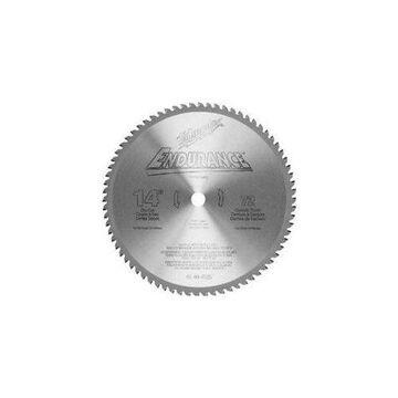 MILWAUKEE, 48404505, Circular Saw Bld,Crbde,14 In,72 Teeth