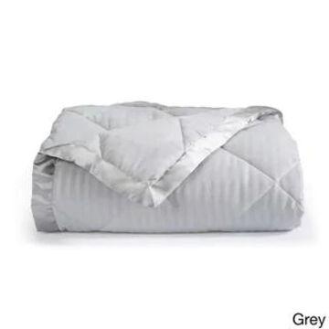 Home Fashion Designs Romana Collection Down Alternative Blanket (Twin - Grey)