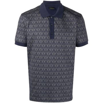 lion jacquard polo shirt