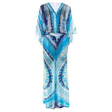 Emilio Pucci Blue Silk Jumpsuits