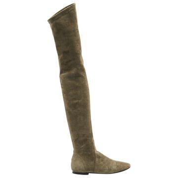 Isabel Marant Etoile Beige Suede Boots