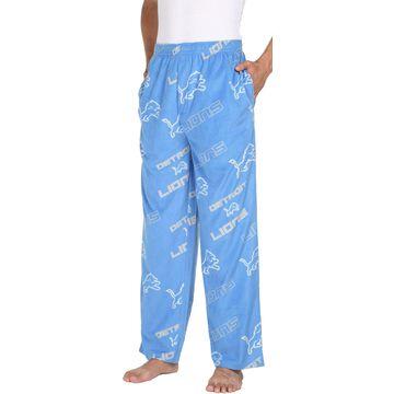 Concepts Sport Men's Detroit Lions Keystone Blue Fleece Pants