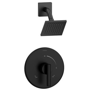 Symmons Dia Matte Black 1-handle Shower Faucet Stainless Steel