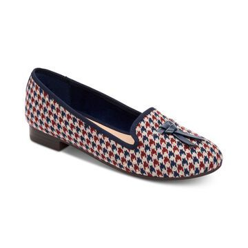 Charter Club Womens Femmie Fabric Almond Toe Loafers