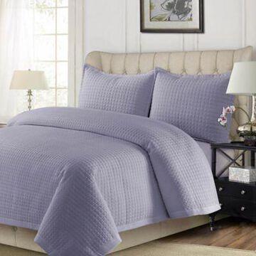 Tribeca Living Como King Quilt Set in Lavender
