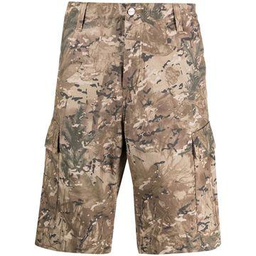 camouflage-print regular cargo shorts