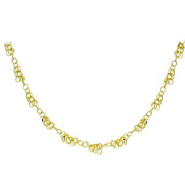 Mondevio 14k Yellow Gold 4mm Rolo Chain Necklace (16 Inch)