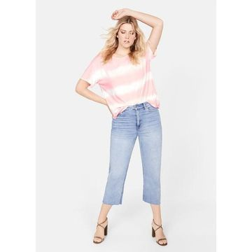 Violeta BY MANGO - Tie-dye t-shirt pink - S - Plus sizes