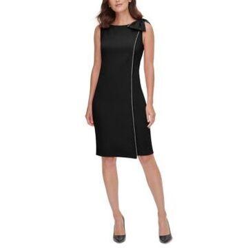 Jessica Howard Side-Bow Embellished-Trim Dress