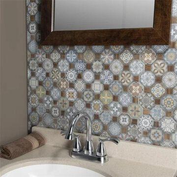 SomerTile 12.25x12.25-inch Tesseract Multi Ceramic Floor and Wall Tile (13 tiles/14.11 sqft.)