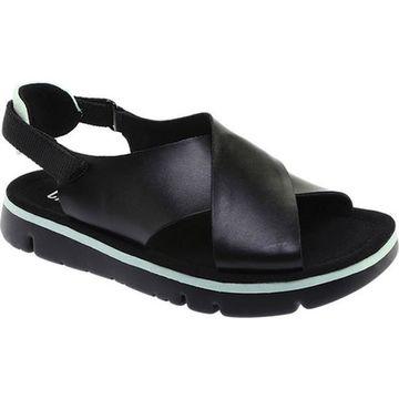Camper Women's Oruga Platform Sandal Black Leather
