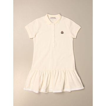Moncler Polo Dress In Cotton With Logo