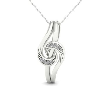 De Couer 1/20ct TDW Diamond Necklace - White