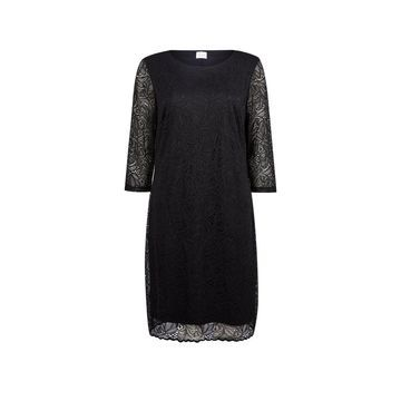 **Vila Black Lace Shift Dress