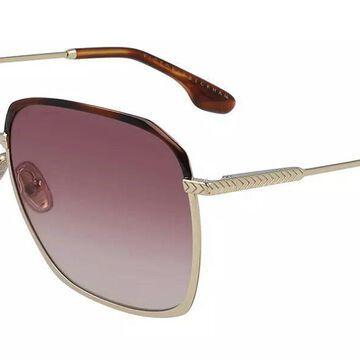 Victoria Beckham VB207S 712 Womenas Sunglasses Gold Size 59