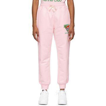 Casablanca Pink 'Tennis Club' Lounge Pants