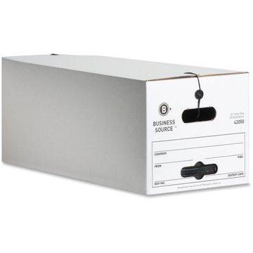 Business Source Light Duty Letter Size Storage Box, White, 12 / Carton (Quantity)